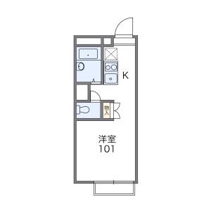 1K Apartment in Koizumicho higashi - Yamatokoriyama-shi Floorplan