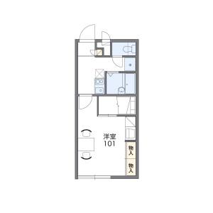 1K Mansion in Midorimachi - Uruma-shi Floorplan