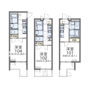 1K Mansion in Shiomidai - Yokosuka-shi Floorplan