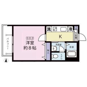 1K Mansion in Kamishakujii - Nerima-ku Floorplan