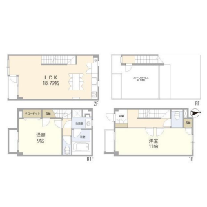 2LDK Mansion in Todoroki - Setagaya-ku Floorplan
