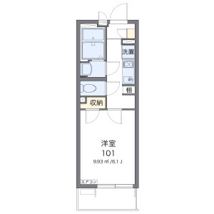 1K Mansion in Ashihara - Osaka-shi Naniwa-ku Floorplan