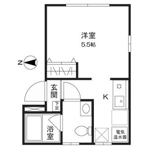 練馬區西大泉-1R公寓大廈 房間格局