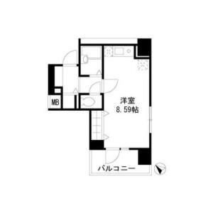 1K Mansion in Tsukishima - Chuo-ku Floorplan