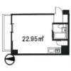 在目黒區內租賃1R 公寓大廈 的房產 房間格局