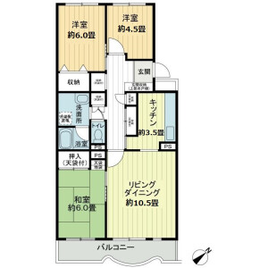 横浜市港南区日限山-3LDK公寓大厦 楼层布局