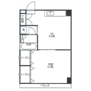 1DK Mansion in Aizumicho - Shinjuku-ku Floorplan