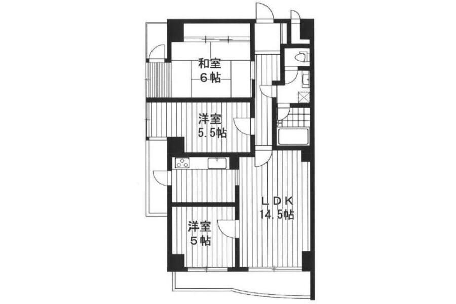 3LDK Apartment to Rent in Nerima-ku Floorplan
