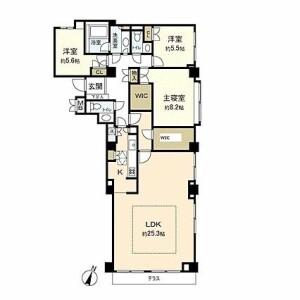 3LDK Apartment in Sagiyama - Yokohama-shi Naka-ku Floorplan
