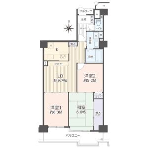 3LDK {building type} in Namiki - Saitama-shi Iwatsuki-ku Floorplan
