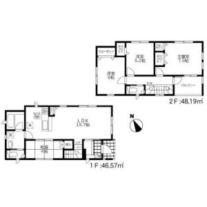 4LDK House in Yokomizo - Mizuma-gun Oki-machi Floorplan