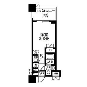 1R Mansion in Kinshi - Sumida-ku Floorplan