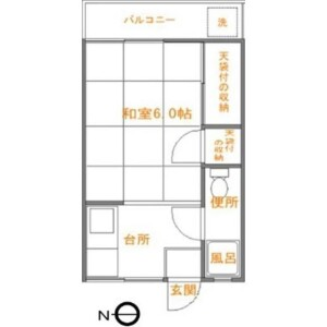 1K Apartment in Kamata - Setagaya-ku Floorplan