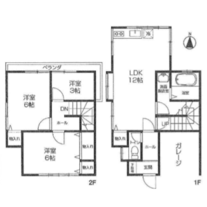Whole Building {building type} in Namikicho - Kokubunji-shi Floorplan