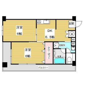 2DK Mansion in Oi - Shinagawa-ku Floorplan