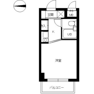 1R Mansion in Sekimachiminami - Nerima-ku Floorplan
