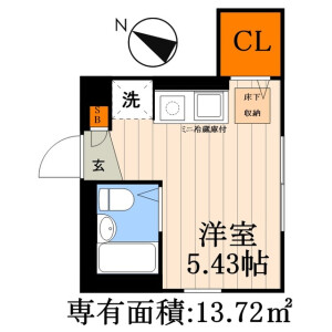1R Apartment in Arakawa - Arakawa-ku Floorplan