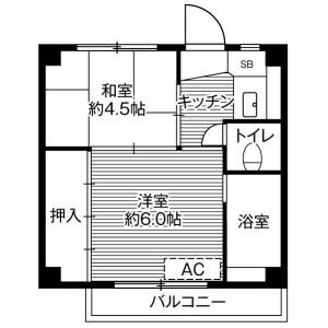 2K Mansion in Imafuku - Kawagoe-shi Floorplan