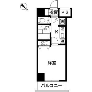 目黒区中目黒-1K公寓大厦 楼层布局