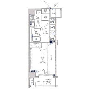1K Apartment in Namamugi - Yokohama-shi Tsurumi-ku Floorplan