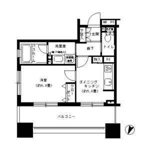 1DK Mansion in Ichigayahommuracho - Shinjuku-ku Floorplan