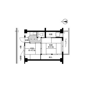 2K Mansion in Amami kita - Matsubara-shi Floorplan