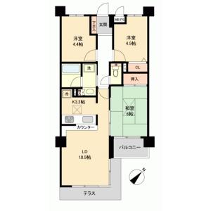 3LDK {building type} in Oyanacho - Ome-shi Floorplan