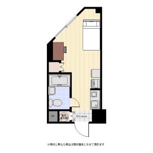 新宿区西新宿-1R公寓大厦 楼层布局