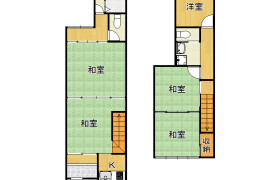 4DK {building type} in Tamadenaka - Osaka-shi Nishinari-ku