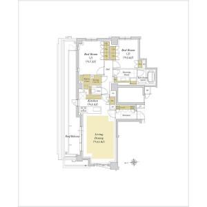 港区西麻布-2LDK{building type} 楼层布局