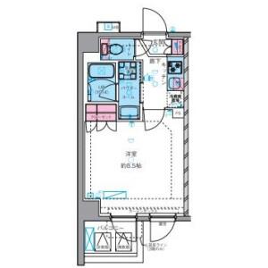 1K Mansion in Daikyocho - Shinjuku-ku Floorplan