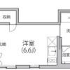 1R Apartment to Rent in Meguro-ku Floorplan
