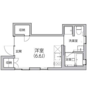 1R Mansion in Gohongi - Meguro-ku Floorplan