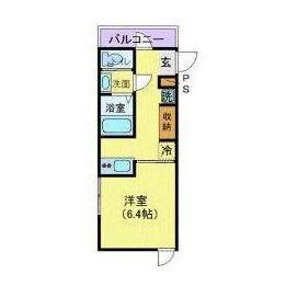 1K Apartment in Komazawa - Setagaya-ku Floorplan