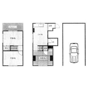 3DK {building type} in Ogurisu ushigafuchicho - Kyoto-shi Fushimi-ku Floorplan