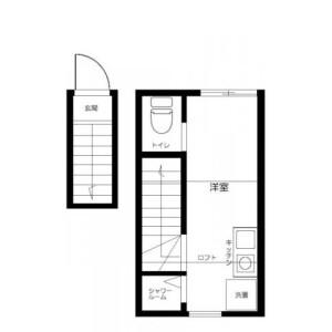 1R Apartment in Shibamata - Katsushika-ku Floorplan