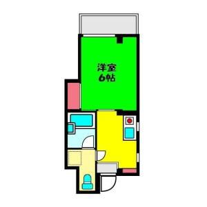 1K Mansion in Motomachi - Yokohama-shi Naka-ku Floorplan