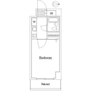 1K Mansion in Higashiyaguchi - Ota-ku Floorplan
