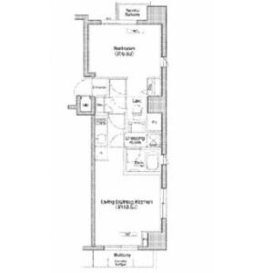 1LDK Mansion in Ogikubo - Suginami-ku Floorplan