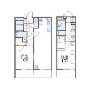 1K Mansion in Osho kita - Amagasaki-shi Floorplan