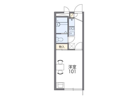 1K Apartment to Rent in Chofu-shi Floorplan
