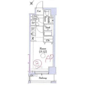 1K Mansion in Matsukagecho - Yokohama-shi Naka-ku Floorplan