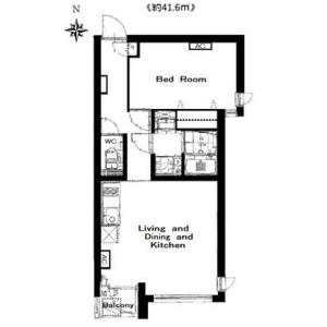 港区南麻布-1LDK公寓大厦 楼层布局