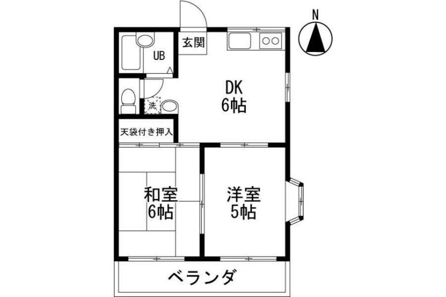 2DK Apartment to Rent in Saitama-shi Minuma-ku Floorplan