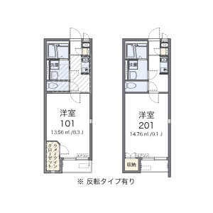 1K Apartment in Iko - Adachi-ku Floorplan