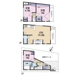 渋谷区 代々木 3LDK {building type} 間取り