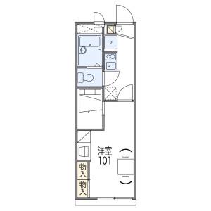 1K Apartment in Mozuryonancho - Sakai-shi Kita-ku Floorplan