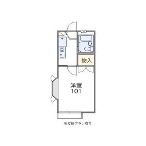 1K Apartment in Mukodaicho - Nishitokyo-shi Floorplan