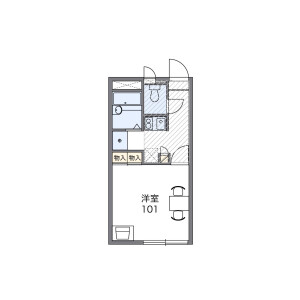 1K Apartment in Kyodo - Setagaya-ku Floorplan