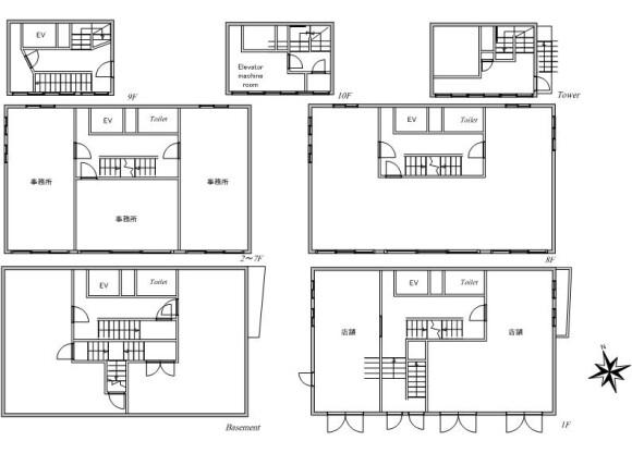 Whole Building Retail to Buy in Bunkyo-ku Floorplan